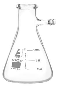 Conical - Fitering Flask with integral glass side arm