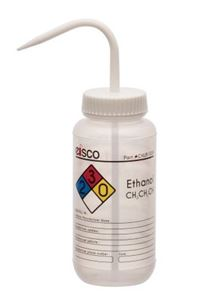 Ethanol Performance Plastic Wash Bottle, Empty Label