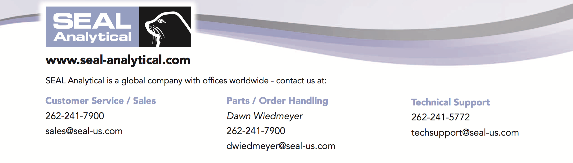 Contact SEAL Analytical