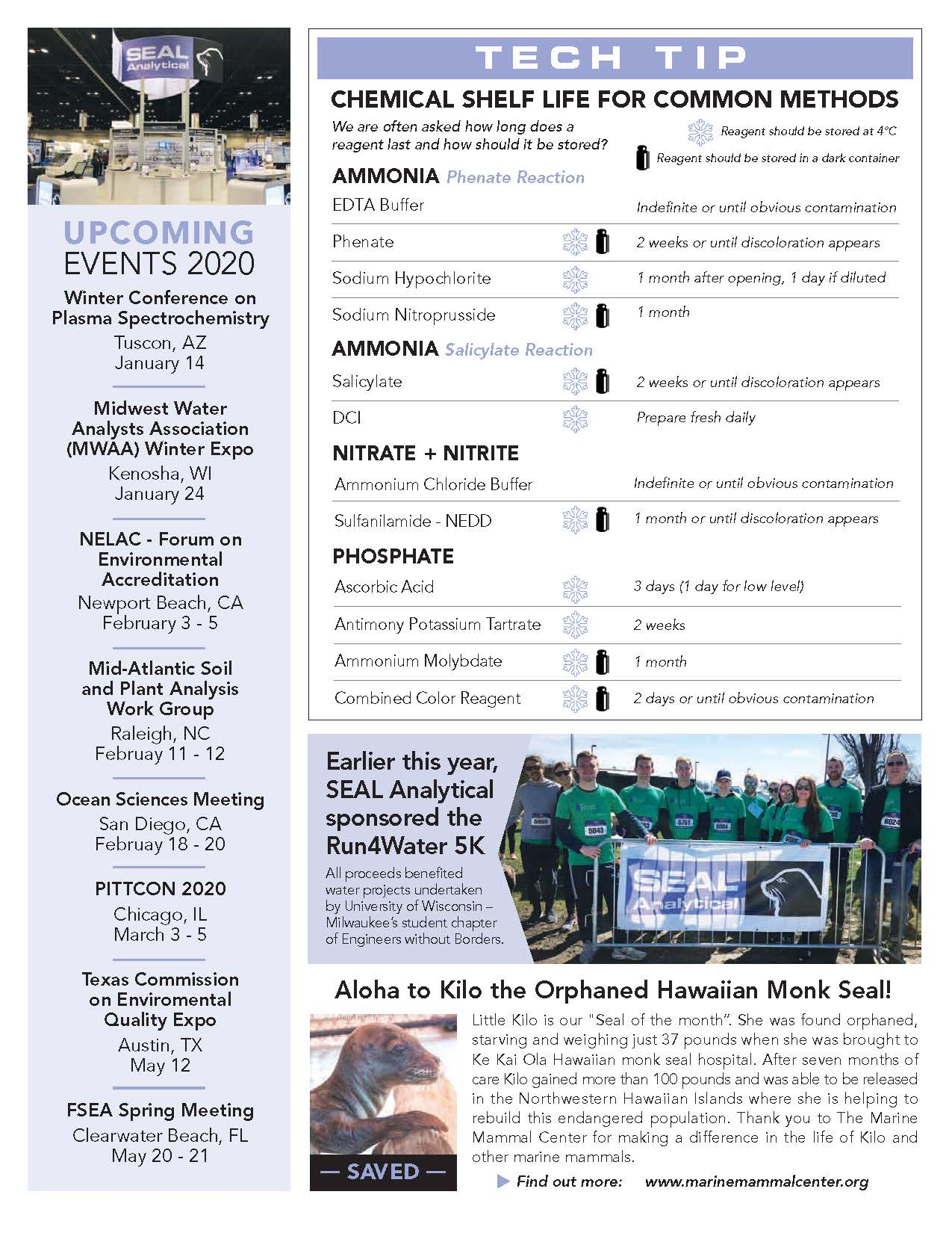 SEAL Analytical Newsletter Fall 2019 Page 3