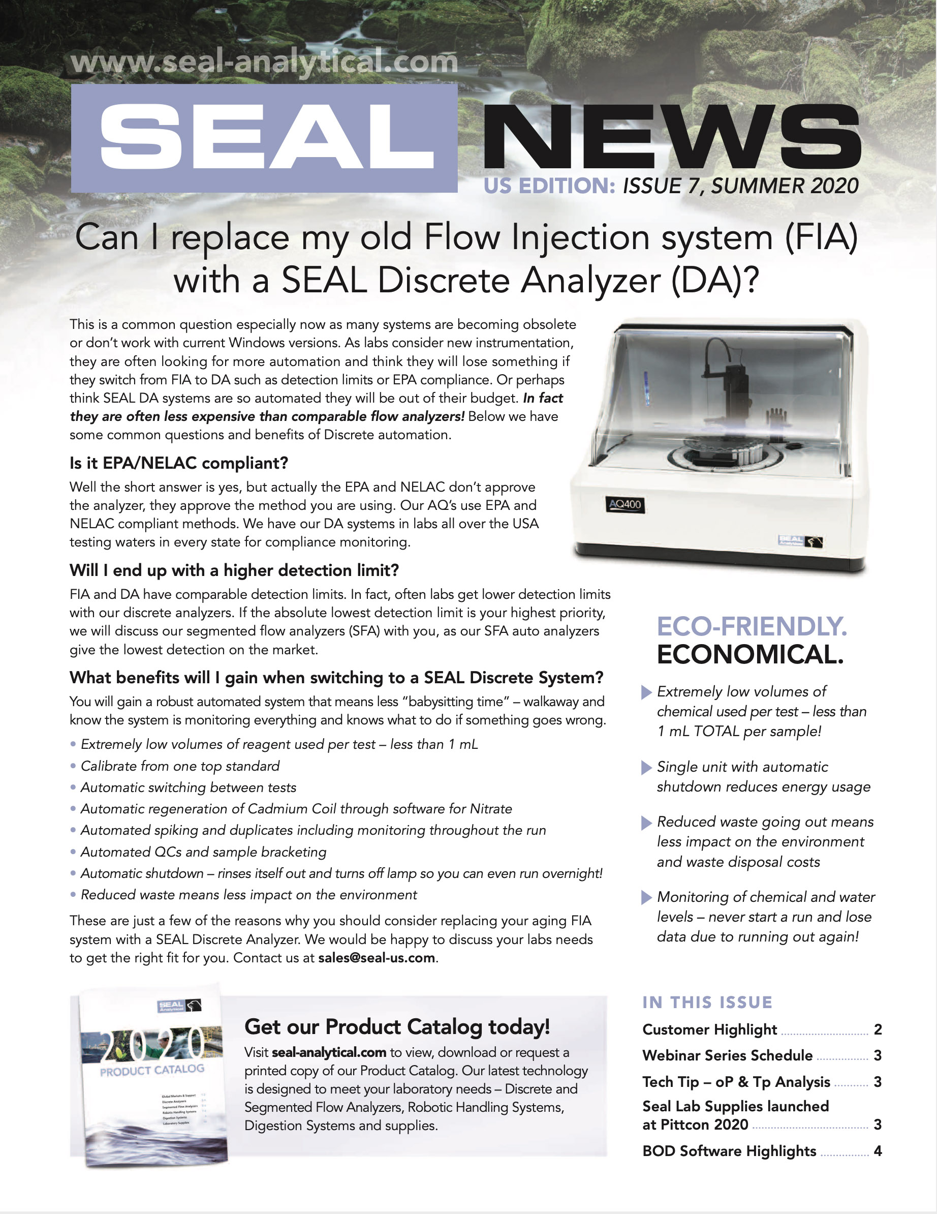 SEAL Analytical Newsletter Summer 2020 Page 1