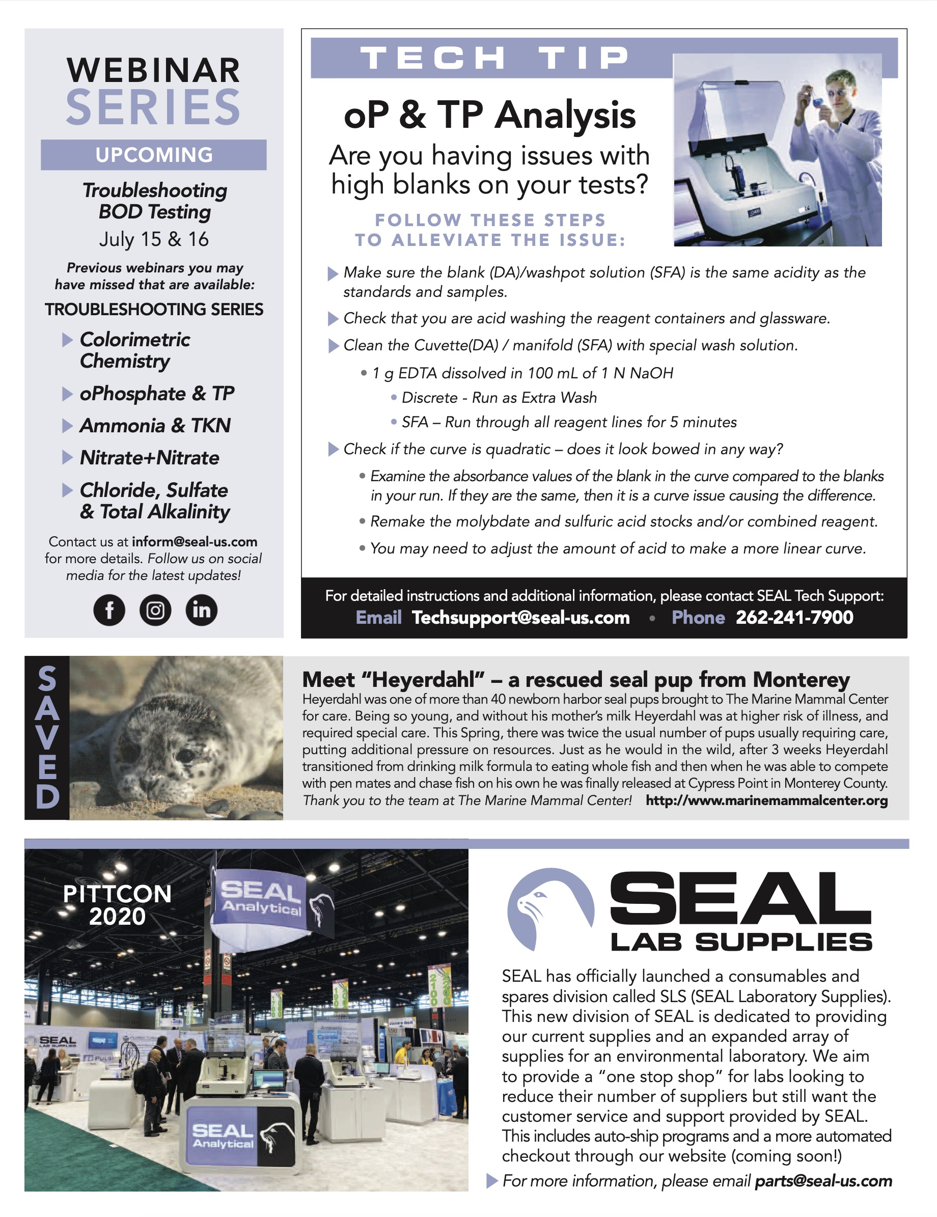 SEAL Analytical Newsletter Summer 2020 Page 3