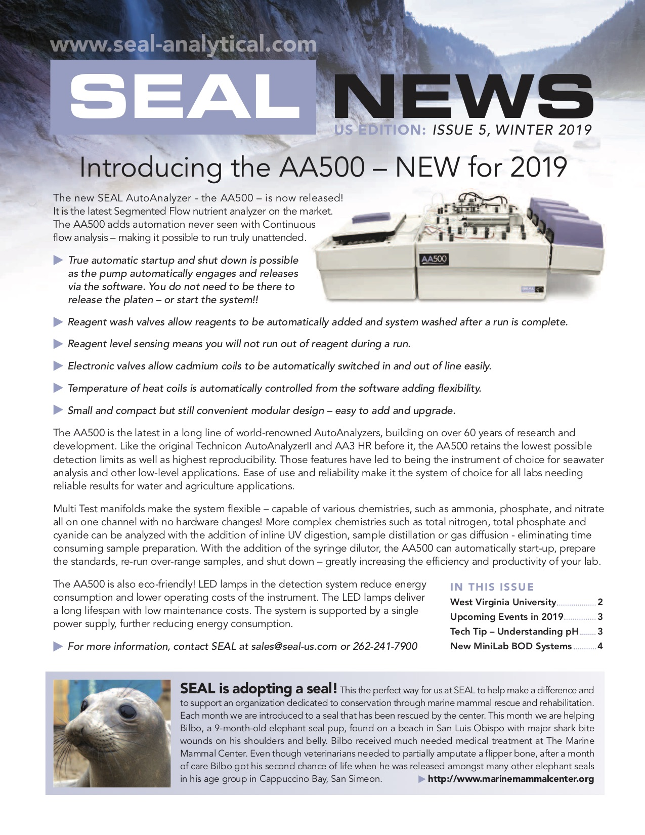 SEAL Analytical Newsletter Winter 2019 Page 1