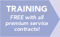 Free Training with all Premium Service Contracts