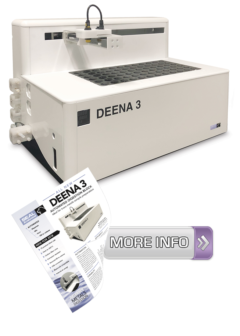 DeenA3 Automated Sample Digestion for Metals